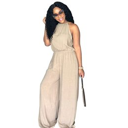 964b55ee3da MOBTRS Woman Fashion Wide Leg Pants Simple Temperament Elegant Woman s  Jumpsuits Loose High Waist Female Rompers