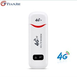 Dongle Wireless Router Australia - TIANJIE 3G 4G WiFi Modem wingle LTE USB Hotspot wireless Dongle CAR WIFI ROUTER For Windows Mac OS with sim card slot