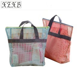 Portable Houses Mesh Travel Storage Bags Bathroom Hanging Travel Makeup  Bags Washing Toiletry Kits Casual Makeup Handbag 9694f8e74a908