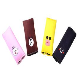 Car Safety Belt Cover Cartoon Cute Child Seat Belt Cover Car Shoulder Pad Plush Sleeping Safety Belt Cover 20PCS on Sale