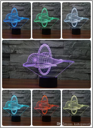 $enCountryForm.capitalKeyWord Australia - 3D illusion Led night light 7colors dolphin lamp table novelty products christmas lights with touch button children night light