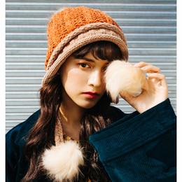 f4b8e1da0e5 Korean Women Knitted Bomber Hats With Earflap Plus Velvet Solid Ear Caps  Tassels Aviators Ushanka Snow Beanie For Ladies 54-60cm