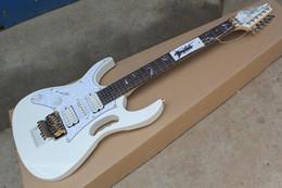 Accesorios de calidad superior zurdos calientes de Corea Ibz JEM 7V Guitarra eléctrica blanca Steve Vai DiMarzio Floyd Rose envío gratis en venta
