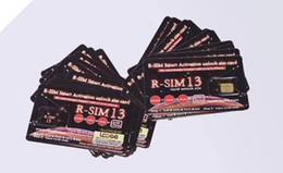 Nueva marca Original Rsim 13 Activación inteligente desbloqueo de tarjeta SIM Tarjeta de desbloqueo Heicard para iPhone 7 8 XS MAX soporte editar iccid