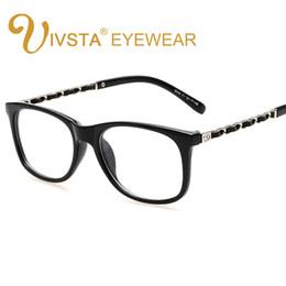38f47f69e IVSTA Diseñador de la Marca Cadena de Oro Decoración Mujeres Grandes  Anteojos Gafas cuadradas Gafas con marco transparente grado óptico
