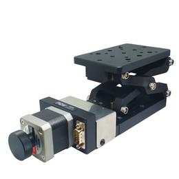 Elektrische Hebeplattform motorisierte Lab Jack Aufzug optische Schiebe Lift 60 +/- 2 mm Reise PT-GD401 im Angebot