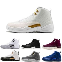 3f5fe175adac En ligne 12 Français Bleu Jeu TAXI Playoff Grippe Bordeaux Bleu Profond  Royal Suede 12S Chaussures de basket-ball Chaussures de sport Hommes Baskets
