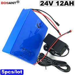 $enCountryForm.capitalKeyWord NZ - Free Shipping 5pcs ebike battery 24v 12ah Lithium battery +2A Charger electric bicycle battery 24v for Bafang BBSHD 300W Motor