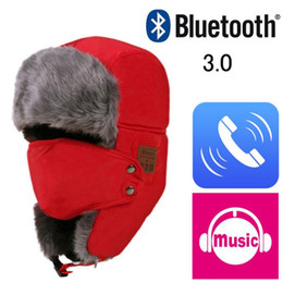 Wireless Headphones Mic Blue Australia - 2018 Soft Winter Warm Bomber Hats Unisex Wireless Bluetooth Smart Cap Headset Headphone Speaker Mic Bluetooth Hat Hiking Caps