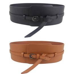 $enCountryForm.capitalKeyWord Canada - Women Ladies Fashion Super Wide Faux Leather Corset Waistband Belt (Black Brown) BLTLL0031