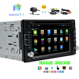 "double din gps dvd bluetooth Australia - Android 7.1 Car Stereo Double Din In Dash GPS Navi Octa-core 2GB RAM+32GB ROM 6.2"" Car DVD Player Bluetooth Autoradio Bluetooth"