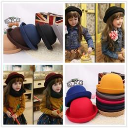 b866099db66c0f Child Felt Hat UK - 20pcs kids and women fedora hat Dome cap Children dress  hats