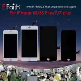 Grau a +++ lcd display touch digitador assembléia quadro reparação para iphone 6 s 6 s plus 7 7 além de frete grátis dhl