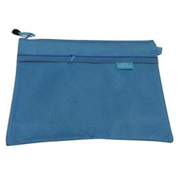 $enCountryForm.capitalKeyWord UK - SCLL Hot Bai Ju A4 waterproof zipper file bag information bag office storage documents blue