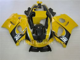 srad fairing yellow NZ - High grade fairing kit for SUZUKI GSXR600 GSXR750 SRAD 1996-2000 black yellow GSXR 600 750 96 97 98 99 00 fairings GF34