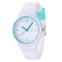 Cheap Quality Battery UK - Brand Children Silicone Strap Watches High Quality Fashion Digital Boy and Gril Watch Cheap Student Cartoon Sports Wristwatch Wholesale