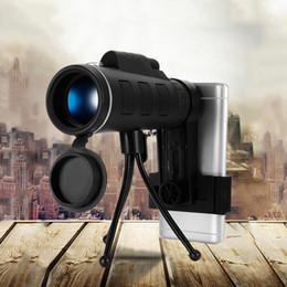 $enCountryForm.capitalKeyWord Australia - 40X60 Monocular BAK4 Telescope HD Night Vision Prism Dual Focus Adjustment Binocular Spotting Scope +Compass Phone Clip Tripod