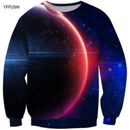 $enCountryForm.capitalKeyWord Canada - YFFUSHI 2018 Male 3D Sweatshirt Space Series Two Color 3d Print Pullovers Beautiful Planet Print Men Hot Sale Plus Size 5XL