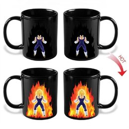 cups balls magic Canada - Creative Magic Mugs Dragon Ball Z Vegeta Changing Coffee Mug Heat-sensitive Reactive Ceramic Cup Color Changing Drinkware