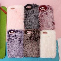 Smart Hair Australia - For Huawei Y9 2018 P Smart Enjoy 7 Plus V10 Mate 10 Pro 9 Genuine Rabbit Hair Case Bling Diamond Fluffy Fur Cover Girl Soft TPU Skins Cute