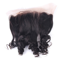 Discount lace frontals baby hair - Malaysian Virgin Hair Lace Frontal 13x4'' Loose Wave Virgin Human Hair Ear To Ear Full Lace Frontals Closure B