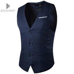 f4f784fb8502ea ZEESHANT Marke 2018 Männer Kleidung Slim Suit Westen Männlichen Business  Casual Weste Männer Party Hochzeit Weste in Herren Anzug Westen