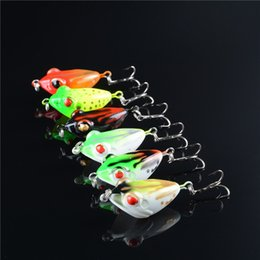 $enCountryForm.capitalKeyWord NZ - 4.2cm 6.5g Ultra Light Fake Frog Fishing Lures Plastic Floating Fishing Baits with Strong Fishing Hook Diving Depth 0.5-1.5m Whole Sale