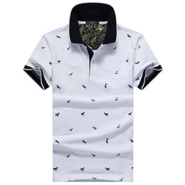 $enCountryForm.capitalKeyWord Australia - Summer Mens Polo Shirt Cotton Polka Dot Short Male Polo Men Top Tee Quick Dry Size M -3xl Muls Brand Fashion Black White Gray Wholesale
