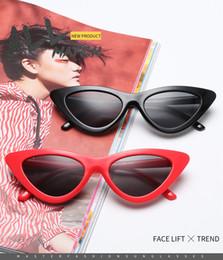 Vente en gros Design de mode Lunettes de soleil œil de chat Femmes Lunettes de soleil Miroir Dégradé Lentille Retro Eyewear UV400 16 sortes de choix de couleurs.