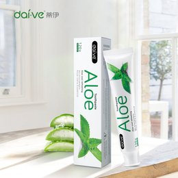 Wholesale Herbal Plant Aloe Toothpaste Oral Hygiene clean mouth Activated Charcoal Vera Gel Components Persistent Oral Care DHL