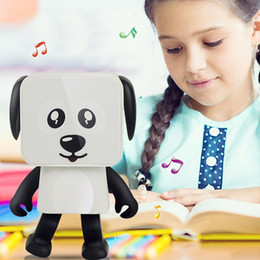 Best Mobile Speakers Australia - Portable Dancing Dog Toy Bluetooth Speaker Wireless Stereo Music Player Loudspeaker For iphone Samsung With Retail Box Best Toy Gift