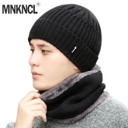 b718e8952a6 MNKNCL Winter Hat Skullies Beanies Hats Winter Beanies For Men Women Wool  Knitted Hat Scarf Set Balaclava Mask Gorras Bonnet
