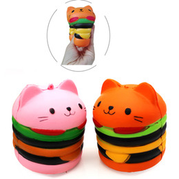 $enCountryForm.capitalKeyWord NZ - ii Cat Hamburger Squishy Perfume Squeeze Vent Imitation Fidget Hamburger Squishies Relaxation Kids Toys Free Shipping