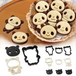 $enCountryForm.capitalKeyWord NZ - 4Pcs Chinese Panda Plastic Baking Mold,Kitchen Biscuit Cookie Cutter Pastry, Animal Cartoon Sugarcraft Stamp Die Tool