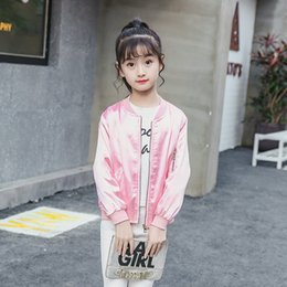 12 Jackets Canada - Jackets For Kids Girl Autumn Kids Outwear Toddlers Coats 2018 Long Sleeve Print New Fashion Jackets 9 10 12 Baju Anak Perempuan