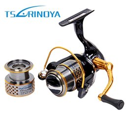 Bait Feeder Australia - TSURINOYA F2000 Full Metal 8+1BB Saltwater Fishing Spinning Reel Double Spool 5.2:1 Fish Carretilha Feeder Carp Spinning Reel +B