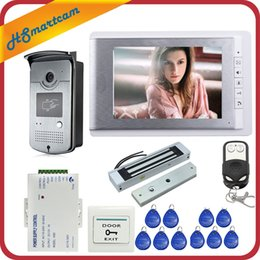 Wholesale Hom Wired inch Video Door Phone Intercom Entry System Monitor RFID Access Camera Electric Magnetic Lock