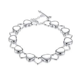 $enCountryForm.capitalKeyWord NZ - Best gift!Solid hollow hand chain 925 silver bracelet JSPB192,Beast gift men and women sterling silver plated Charm bracelets