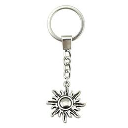 $enCountryForm.capitalKeyWord NZ - 6 Pieces Key Chain Women Key Rings Couple Keychain For Keys Sun 28x25mm YSK-B10973