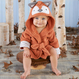 cf589a9f4b 0-6 Years Baby Bath Towel Newborn Blankets Cute Animal Cotton Bathrobe  Hooded Bath Robe Infant Kids Children Terry Pajamas Coat