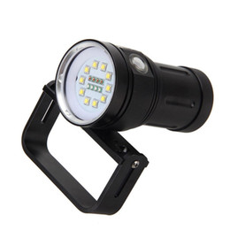Cree Underwater Lights UK - Professional CREE L2 LED White Red Bule Light LED Torch Underwater Video Diving Flashlight Lamp Scuba Diving Light Flashlight Torch