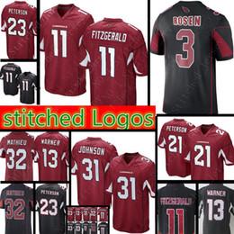 e5ef47c7b Men #11 Larry Fitzgerald 3 Josh Rosen Cardinals Jersey 31 David Johnson 32  Tyrann Mathieu 13 Kurt Warner Jerseys