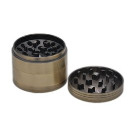 China Newest Bronze Concave Grinder Accessories Presser Diameter 55MM Zinc Alloy New Unique Design Easy To Carry Clean Smoking Accessories DHL cheap newest design alloy suppliers