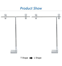 Wholesale Advertising Signs Australia - Metal Shelf Mounted Poster Hanging Clamp magnetic base desk sign holder poster display Label flag clip stand advertising Photo Display Stand