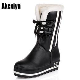 fur platforms 2019 - Size34-43 2018 New Shoes Women Boots black Waterproof Platforms Shoes 5 Colors Winter Full Fur Women's Snow Boots n