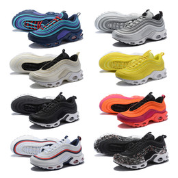 Discount mesh lace up beach shoe - Plus 97 Running Shoes South Beach Gym Red Yellow Undftd Triple White Black Og Silver Bullet Men Trainer 97s Women Sports