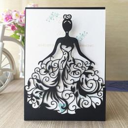 $enCountryForm.capitalKeyWord Canada - 50pcs free shipping Laser cut Wedding Invitation Cards invitaciones de boda convite de casamento Wedding Invitation Cards Princess design
