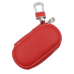 Keychain Nissan UK - wallet car key holder case keychain shell bag leather automobiles product cover leather for vw bmw toyota nissan honda audi benz kia