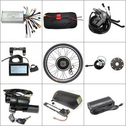 "Ebike Controllers NZ - Free Tax US Shipping 48V 14.5Ah Down Tube Battery 5A Charger + 1000W 26"" Ebike Motor Wheel Controller PAS LCD Brakes Throttle"