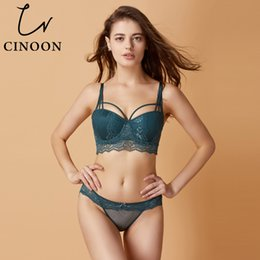 1321f4481dc wholesale Brand 2018 Sexy Bra Set Push-up Bra 3 4 Cup Underwear Sexy Lace  Lingerie Vs Bra For Women 70-85A B C Cup Free Shipping